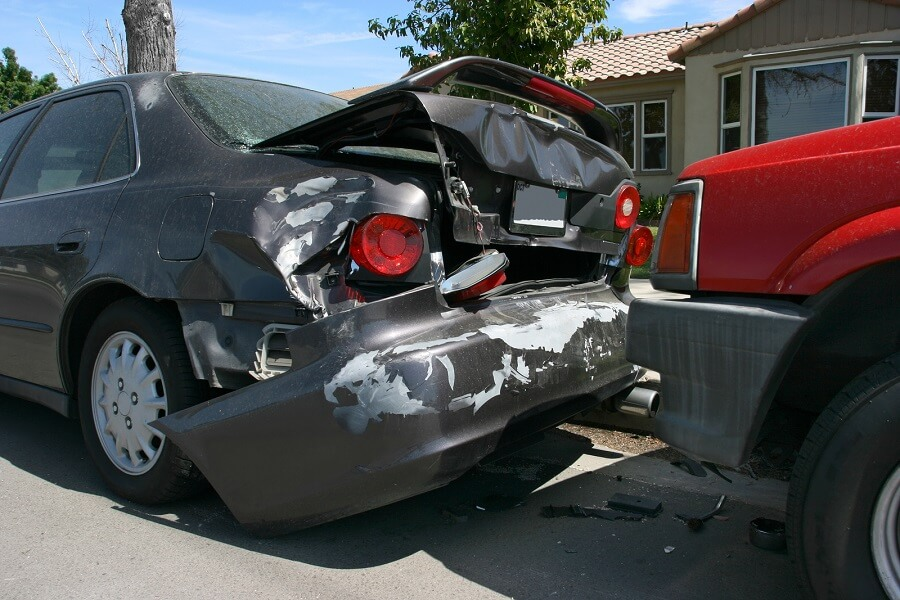 Damaged Parked Car